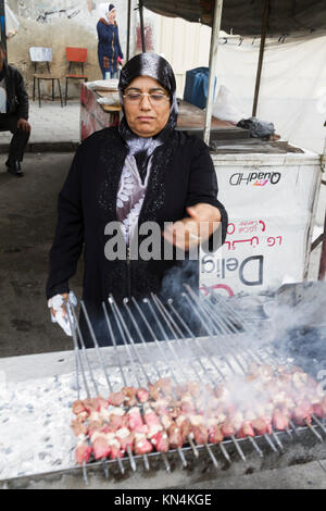 Street food in Damascus, Syria - Stock Photo