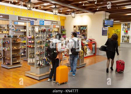 Quito airport, Ecuador; departures, Mariscal Sucre International Airport, Quito, Ecuador, South America - Stock Photo