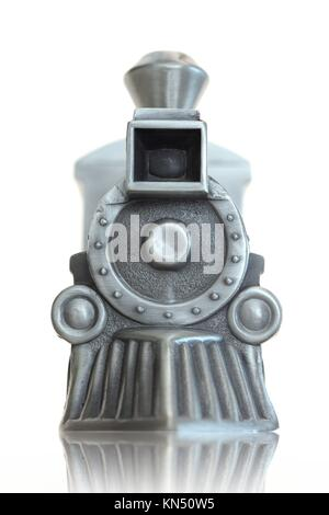 A toy train isolated against a white background. - Stock Photo