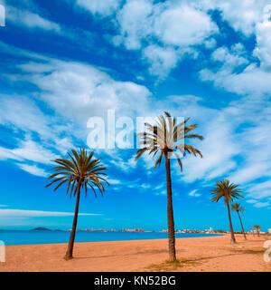 Playa Paraiso beach in Manga Mar Menor Murcia at Spain. - Stock Photo
