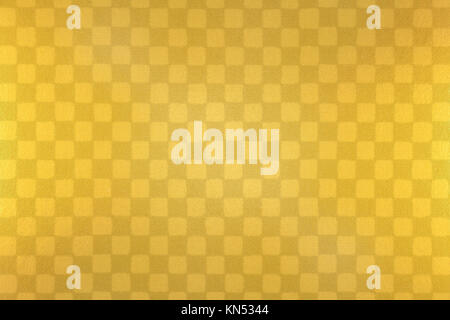 Japanese gold checkered pattern paper texture background - Stock Photo