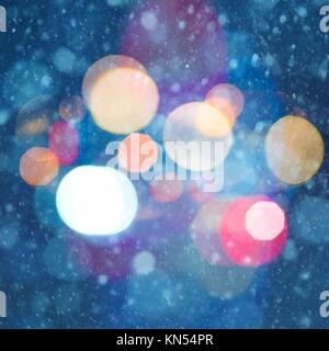 abstract christmas backgrounds with beauty bokeh. - Stock Photo