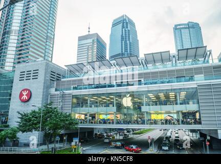 HONG KONG: customers inside apple store in Hong Kong on May 11, 2014. The first Apple Store in Hong Kong, being - Stock Photo