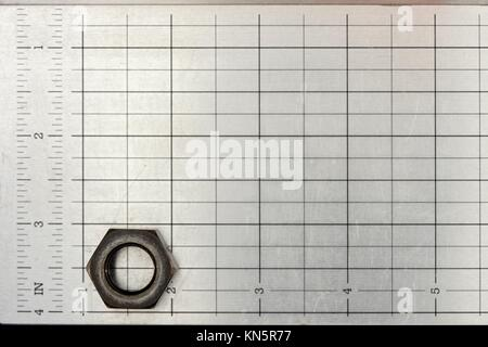 A close up shot of a metal grid. - Stock Photo