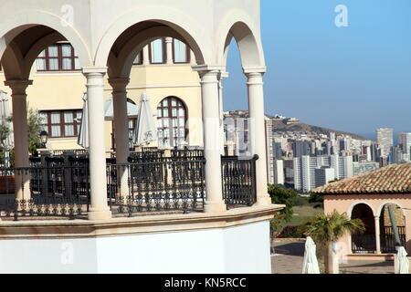 Mediterranean architecture, luxurious resort in Benidorm Spain. - Stock Photo