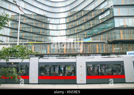 Erste Campus on July 05, 2014 in Vienna. The new district will feature an urban mix of office and residential buildings, - Stock Photo