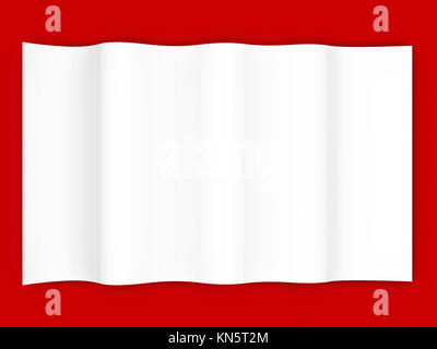 A blank piece of paper. 3D rendered Illustration. - Stock Photo