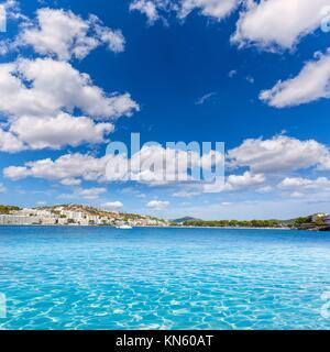 Mallorca Cala Santa Ponsa Ponca beach in Calvia Majorca Balearic islands of Spain. - Stock Photo