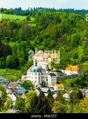 castle and palace of Becov nad Teplou, Czech Republic. - Stock Photo