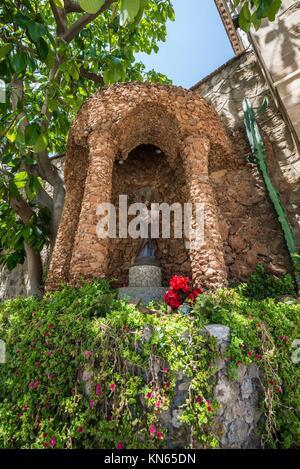 Small shrine in St. Joseph Of The Mountain church in Barcelona, Spain.