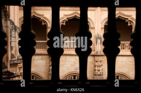 Gothic atrium of Monastery of Saint John of the Kings, Toledo, Spain. - Stock Photo