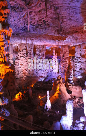 BEIT-SHEMESH, ISRAEL - SEPTEMBER 23, 2017: Avshalom Cave, also known as Soreq Cave, a large stalactites cave near - Stock Photo