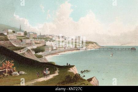 Ventnor, Isle of Wight, Victorian illustration - Stock Photo