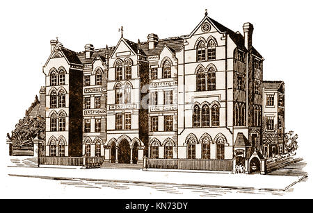 Antique Print 1867 LONDON Soup Kitchen in Ratcliff Highway