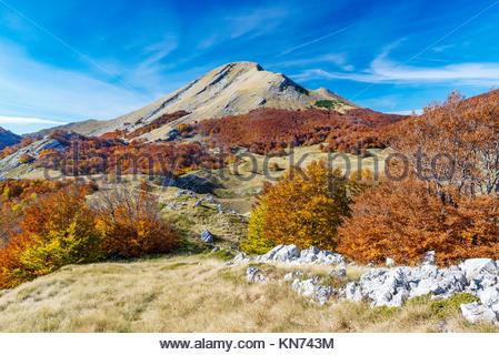 Sveto Brdo in Paklenica National Park, mountain Velebit in Croatia, Europe - Stock Photo