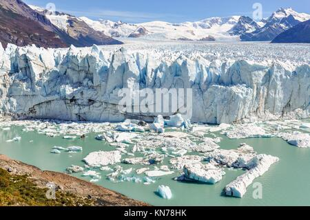 at the Perito Moreno Glacier, Patagonia, Argentina. - Stock Photo