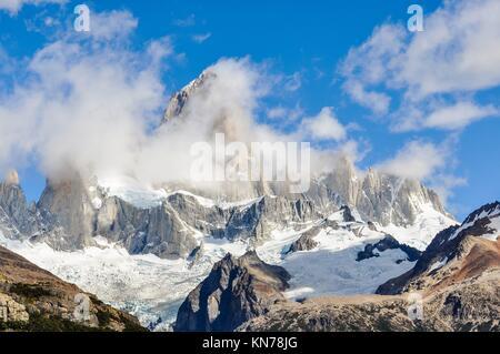 Fitz Roy Walk, El Chalten, Patagonia, Argentina. - Stock Photo