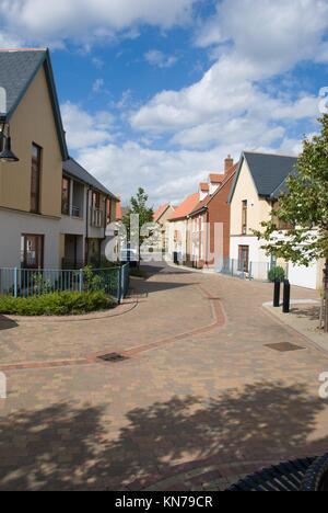 New housing estate. Ravenswood, Ipswich, UK. - Stock Photo