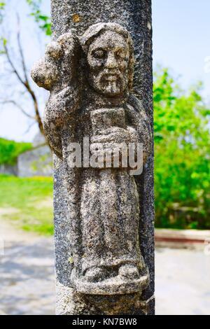 O Cebreiro by the way of Saint James in Galicia Spain. - Stock Photo