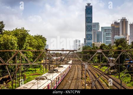 Rail Tracks at Dadar railway station,Mumbai - Stock Photo