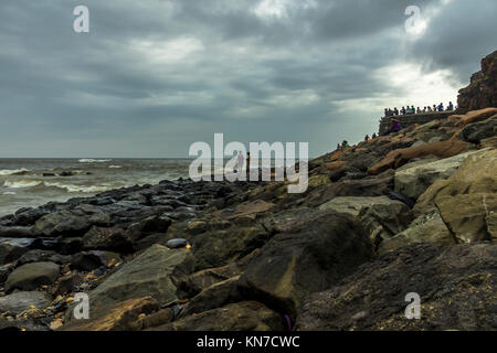 Sea view from Bandra Bandstand - Stock Photo