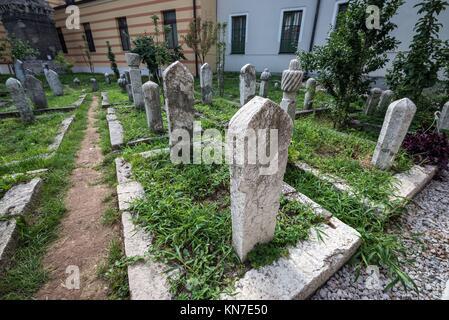 cemetery on the area of Emperor's Mosque in Sarajevo, Bosnia and Herzegovina. - Stock Photo