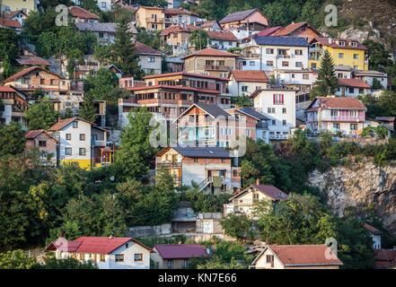 Aerial view on Sarajevo city, Bosnia and Herzegovina. - Stock Photo