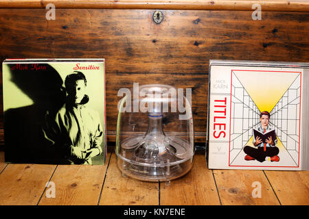 Mick Karn 12 inch single and LP records - Stock Photo