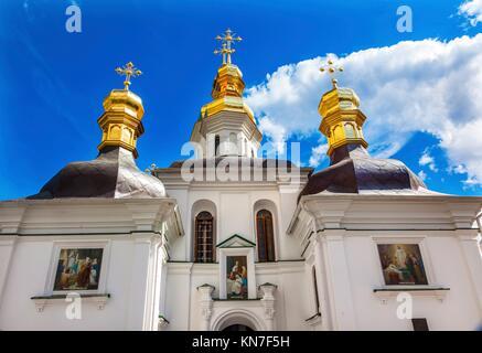 Birth Blessed Virgin Church Holy Assumption Pechrsk Lavra Cathedra Kiev Ukraine. Oldest Ortordox Monastery In Ukraine - Stock Photo