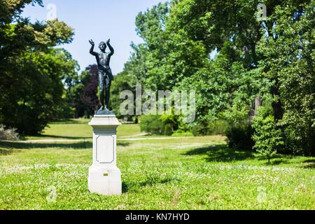 Lysippus, ''Praying Boy'' statue (reproduction) in the Lennepark, Frankfurt (Oder). - Stock Photo