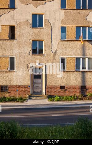Apartment building in Frankfurt (Oder), Brandenburg (former East Germany). - Stock Photo