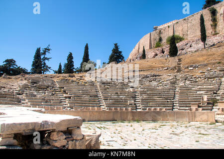 The Theatre of Dionysos, one of the major sights in the Acropolis in Athens, the capital of Greece - Stock Photo