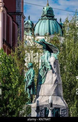 Ljubljana cityscape. European Green Capital 2016, Slovenia. - Stock Photo