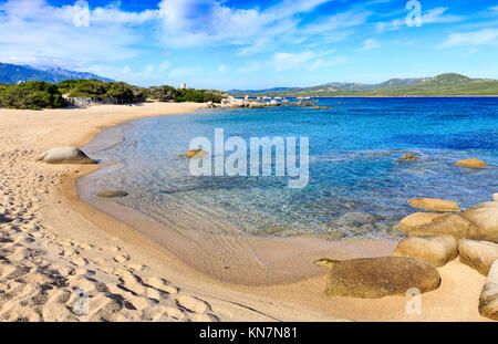 Bay of Figari beach, Corsica - Stock Photo