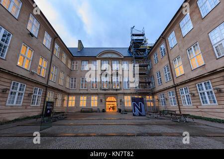 Copenhagen, NOV 20: Exterior view of the National Museum on NOV 19, 2015 at Copenhagen, Denmark - Stock Photo