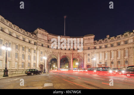 London, NOV 13: Night view of the Admiralty Arch on NOV 13, 2015 at London, United Kingdom - Stock Photo