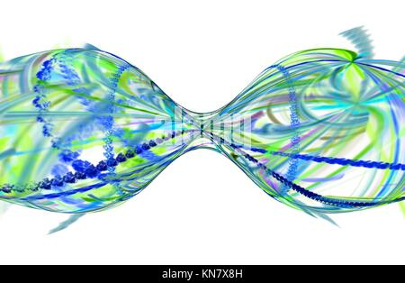 Computer rendered 3d abstract fractal illustration background for creative design. - Stock Photo