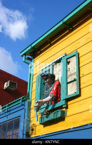 Historical building in the famous Neighborhood of ''La Boca'' in Buenos Aires, Argentina. - Stock Photo