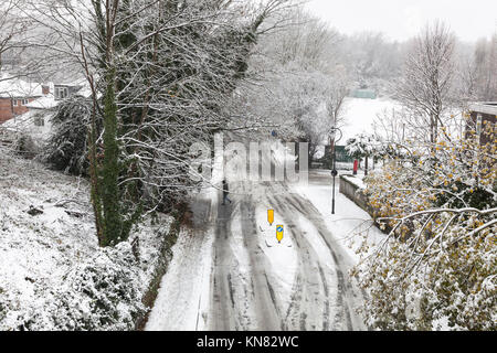 London, UK. 10th Dec, 2017. Heavy snowfall fell in London and across the UK, creating a winter wonderland for all - Stock Photo