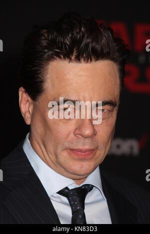 Los Angeles, USA. 09th Dec, 2017. Benicio Del Toro  12/09/2017 The World Premiere of Lucasfilm's 'Star Wars: The - Stock Photo