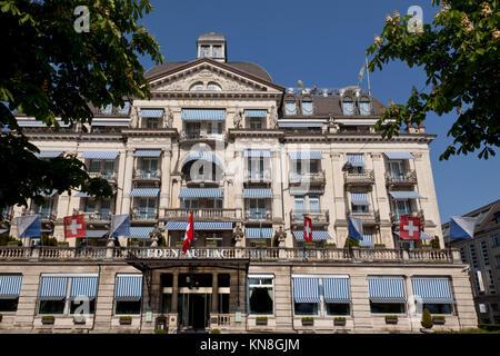 Hotel Eden au Lac, near Zurich lake, Zurich, Switzerland - Stock Photo
