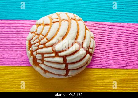 Conchas Mexican sweet bread traditional bakery from Mexico. - Stock Photo