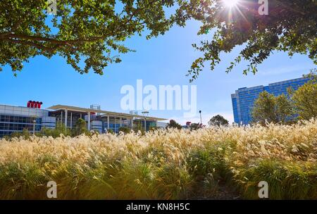 Houston Discovery green park in downtown Texas. - Stock Photo