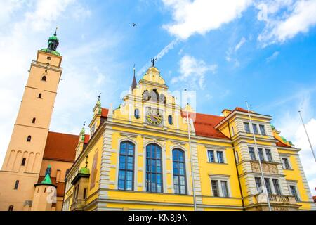 Historic Architecture in Ingolstadt, Bavaria, Germany.. - Stock Photo