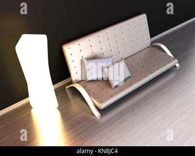 Architecture interior visualisation. 3D illustration. - Stock Photo
