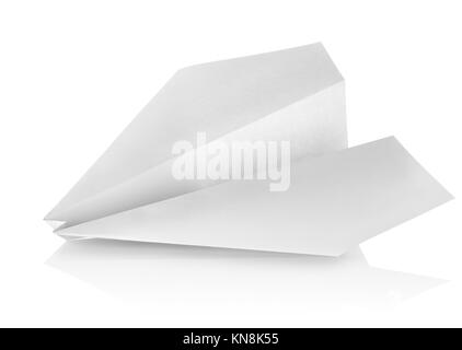 Paper plane isolated on a white background. - Stock Photo