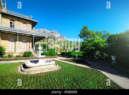 Spring in Vorontsov's residence in the mountains. - Stock Photo