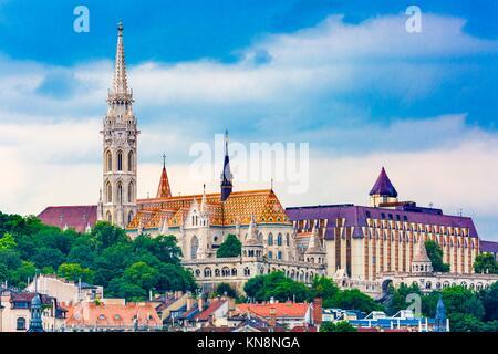 Matthias Church Fisherman's Bastion Budapest Hungary. - Stock Photo