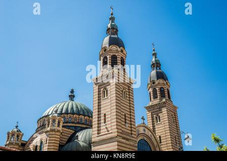 Orthodox Holy Trinity Cathedral in Sibiu in Romania. - Stock Photo