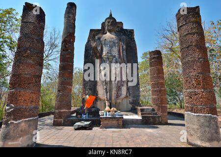 Buddha in Wat Saphan Hin, Sukhothai, Thailand, Asia.